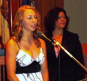 Julie Kindstrand speaks to the Santa Ana City Council