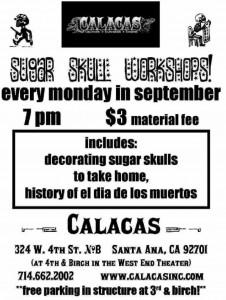 Calacas Sugar Skull Workshops