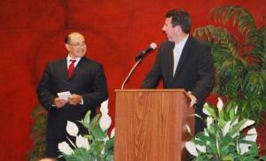 Lou Correa and Hector De La Torre
