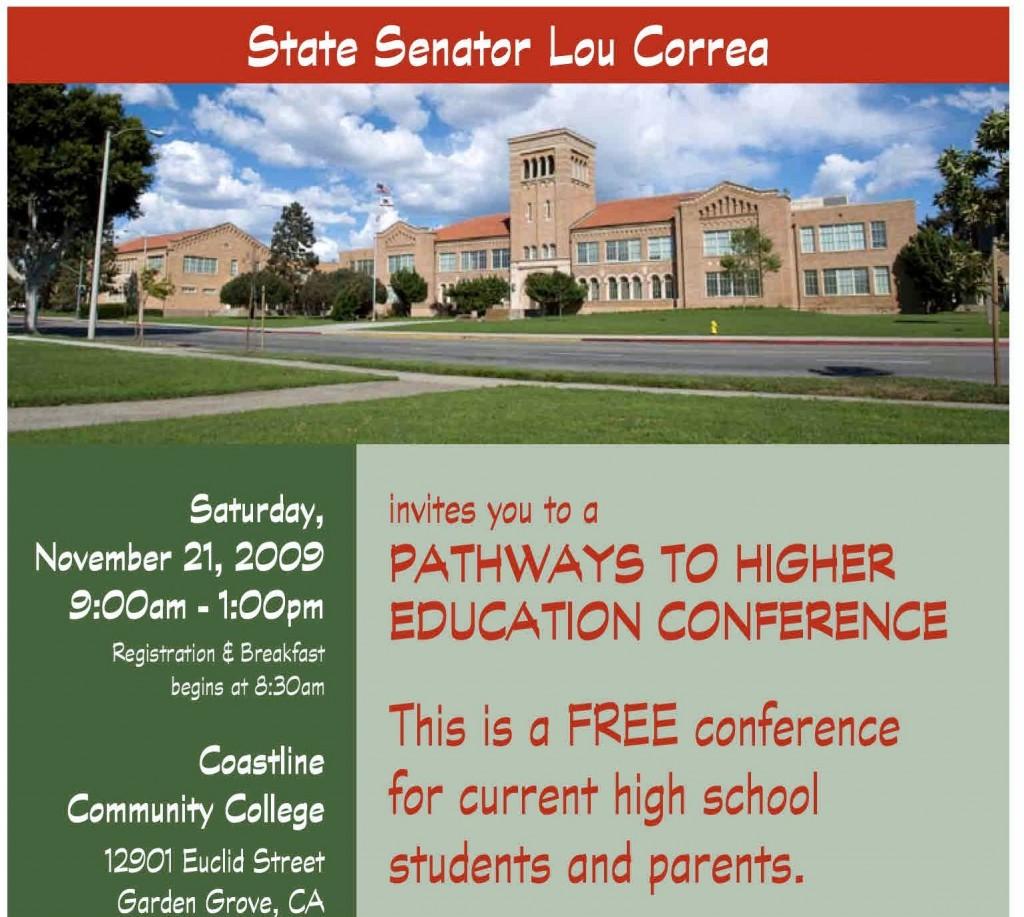 Senator Correa Pathways to Higher Education Conference 2009