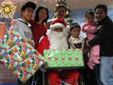 Senator Lou Correa as Santa Claus