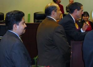 Jose Solorio, Lou Correa and Todd Spitzer
