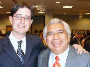 Anaheim Council Candidate John Santoianni  and Alfredo Amezcua