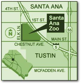 Santa Ana Zoo Map