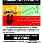 Sacred community forum