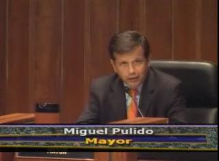 Miguel Pulido at city council
