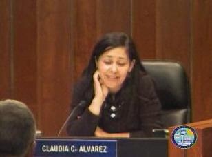 claudia alvarez at the council meeting