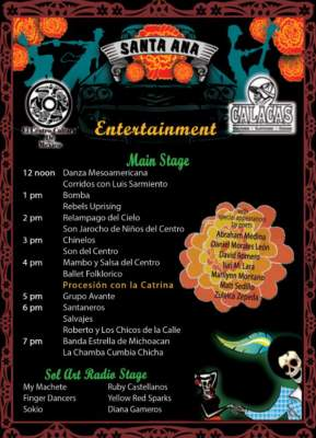 Noche de Altares 2013 entertainment and music schedule