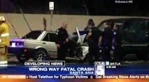Santa Ana wrong way accident