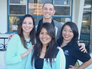 Liz Cruz, Jesse Barrios, and Martha Trejo and Daisy Monjaras