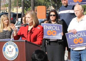 Loretta Sanchez loves Obamacare