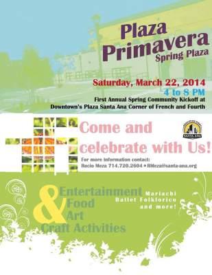 Plaza Primavera flier