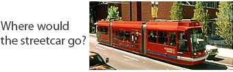 Where would the Santa Ana streetcar go