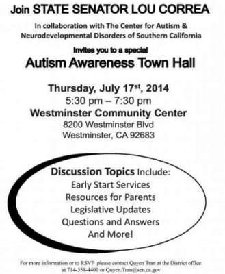 Correa Autism Town Hall