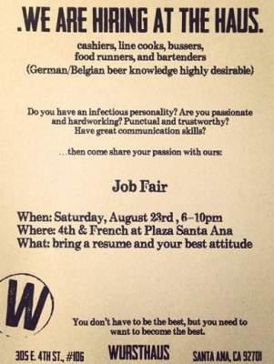 Wursthaus jobs