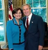 Rosario Marin and George W. Bush