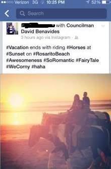 Benavides on a horse
