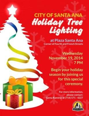 Santa Ana Holiday Tree Lighting
