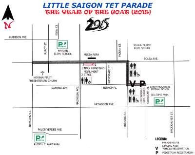 Little Saigon Tet Parade Route 2015