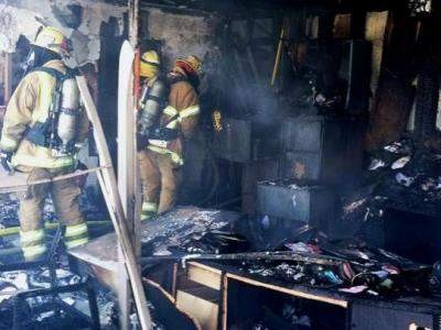 Santa Ana Machine Shop fire 2