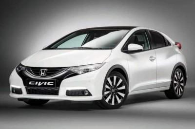white 2014 Honda Civic EX