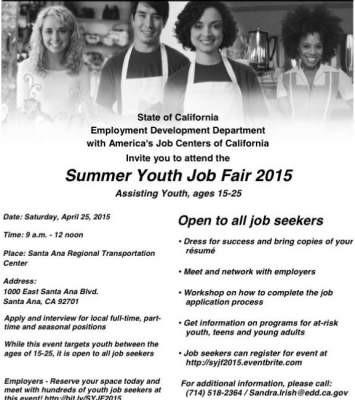 Santa Ana 2015 Summer Youth Job Fair