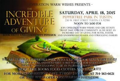 Tustin adventure of giving