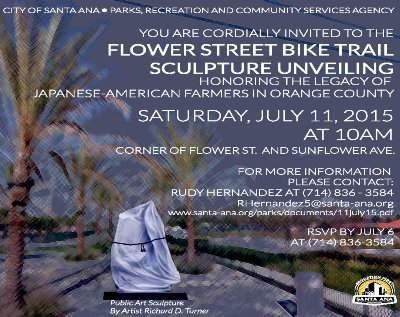 Santa Ana Japanese American Farmer Sculpture
