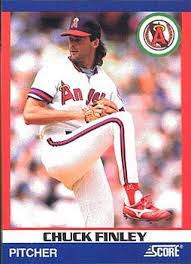 Chuck Finley baseball card