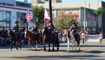 Santa Ana Police at the Fiestas Patrias Parade