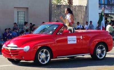 April Vega at the Fiestas Patrias Parade