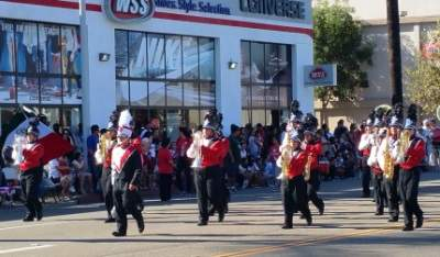 Santa Ana H.S. Band at the Fiestas Patrias Parade