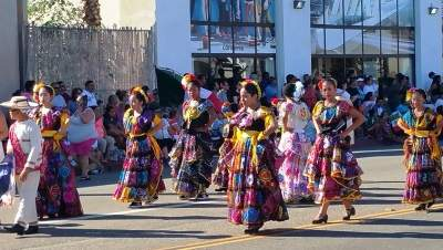 Dancers at the Fiestas Patrias Parade