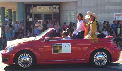 April Ng at the Fiestas Patrias Parade