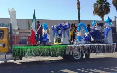 Zumba float at the Fiestas Patrias Parade