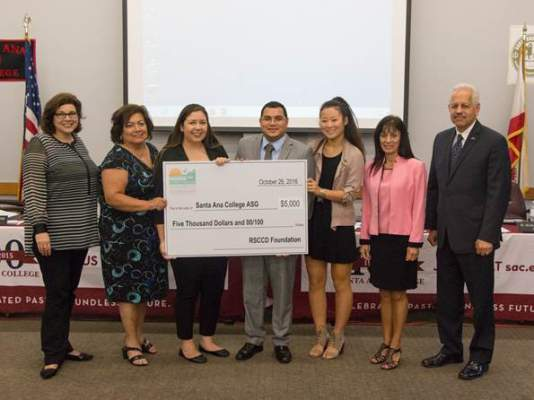 new santa ana student government at santa ana college receives