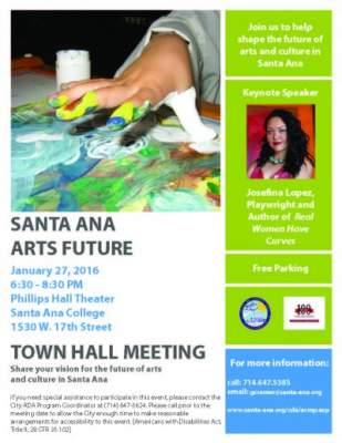 Santa Ana Arts Town Hall Meeting