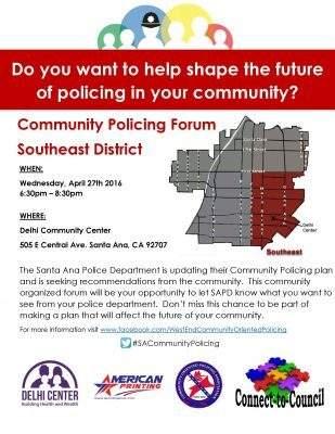 Santa Ana SE Community Policing Forum