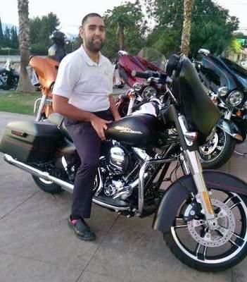 Maxwell Hernandez on a motorcycle