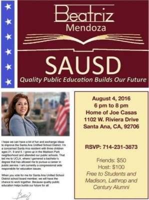 Beatriz Mendoza fundraiser